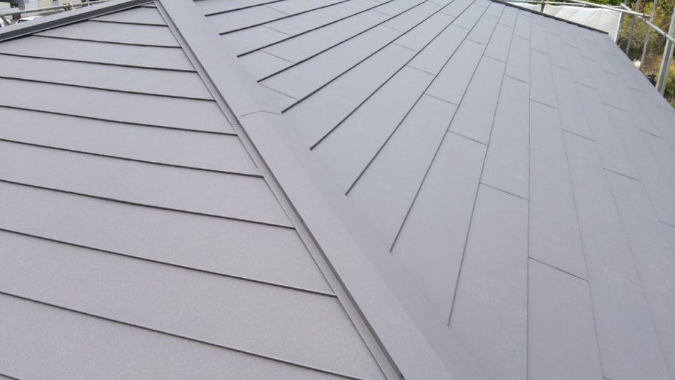 施工後 屋根 頭上より見た図